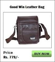 Good Win BF0005 Leather Messenger Bag (Brown)