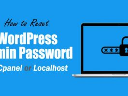 How to Reset WordPress Admin Password on cpanel or Localhost