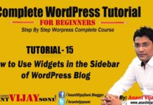 How to Use Widgets in The Sidebar of WordPress Blog
