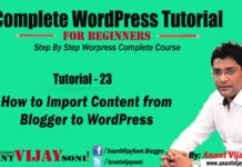 How to Import Content from Blogger to WordPress