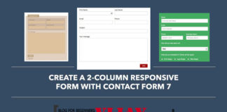 How to create 2 column responsive form with contact form 7