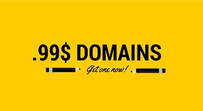 $.99 .COM Domain hosting domain coupons deals Coupons & Deals 99 cent godaddy domain coupon