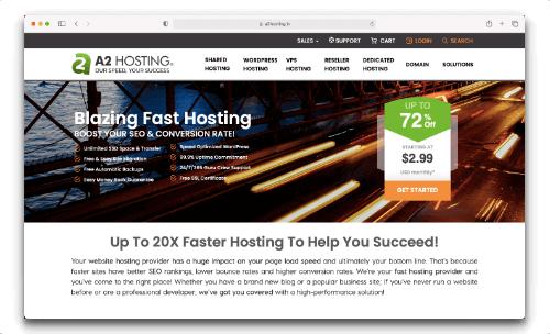 A2Hosting - India's Best speed web hosting