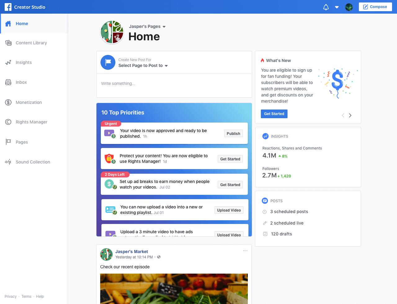 Facebook for creators & Facebook watch