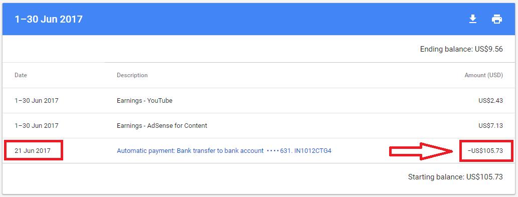 Google Adsense First Payment - Anant Vijay Soni