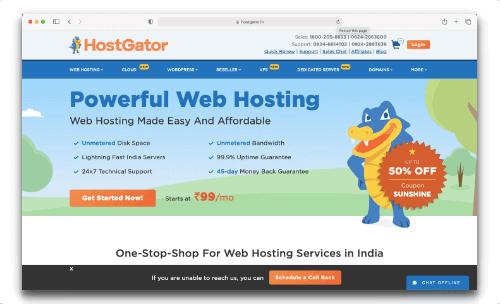 Hostgator - Best Cloud Hosting Services in India