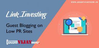 Link Investing – Guest Blogging on Low PR Sites