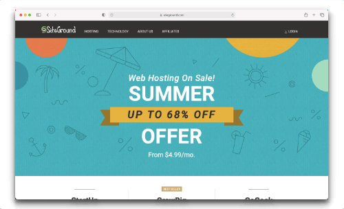 Siteground - Best Web hosting but not for india