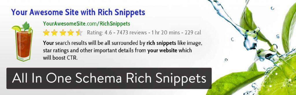 All In One Schema Rich Snippets WordPress plugin