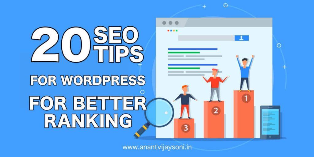 20 SEO Tips for WordPress for Better Ranking