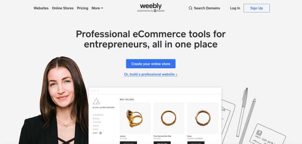 Weebly - Best Online Ecommerce Platform