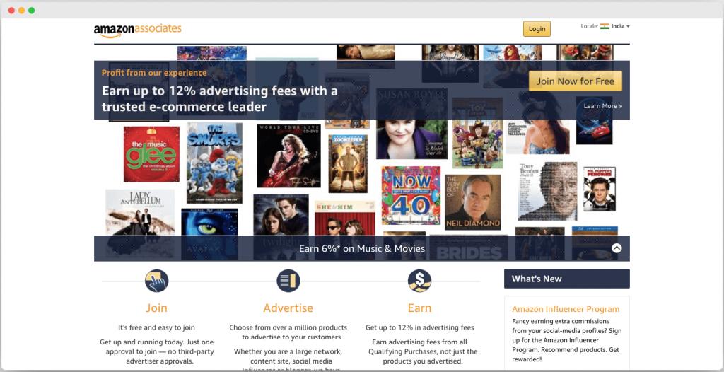 Amazon Associate India - Best Google adsense alternative