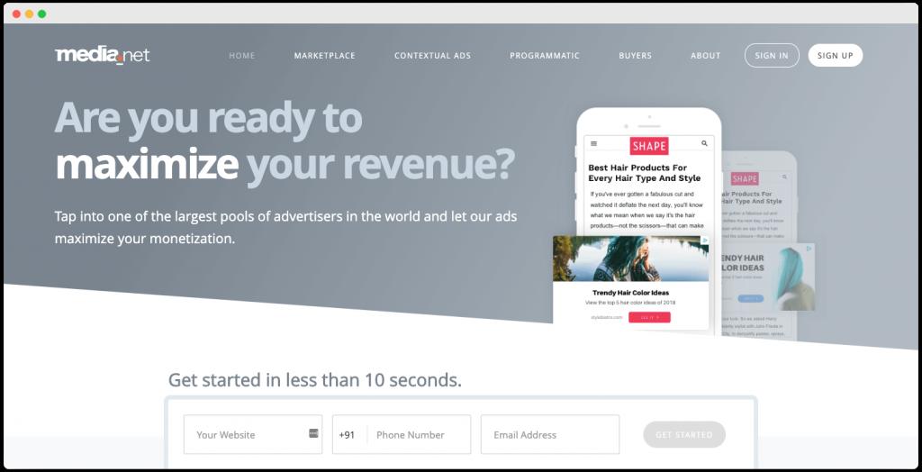 Media.net Contextual ad network - Best Adsense Alternative