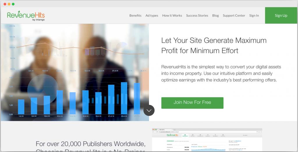 RevenueHits ad network - Best Google adsense alternatives