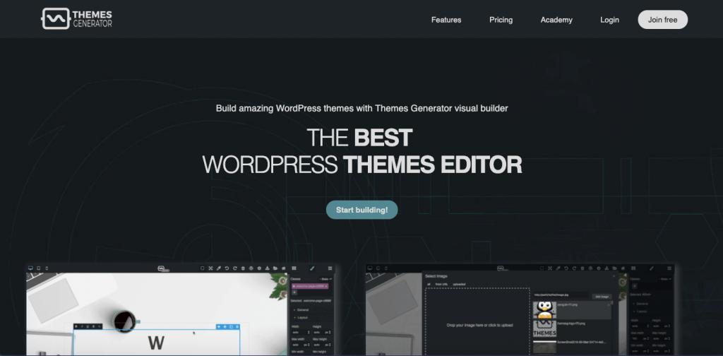 WordPress Theme Generator - Best WordPress Theme Editor