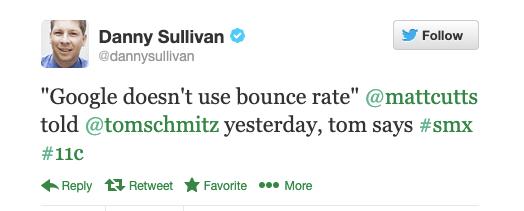 Tweet of Danny Sullivan, the SEO Guru of SearchEngineLand