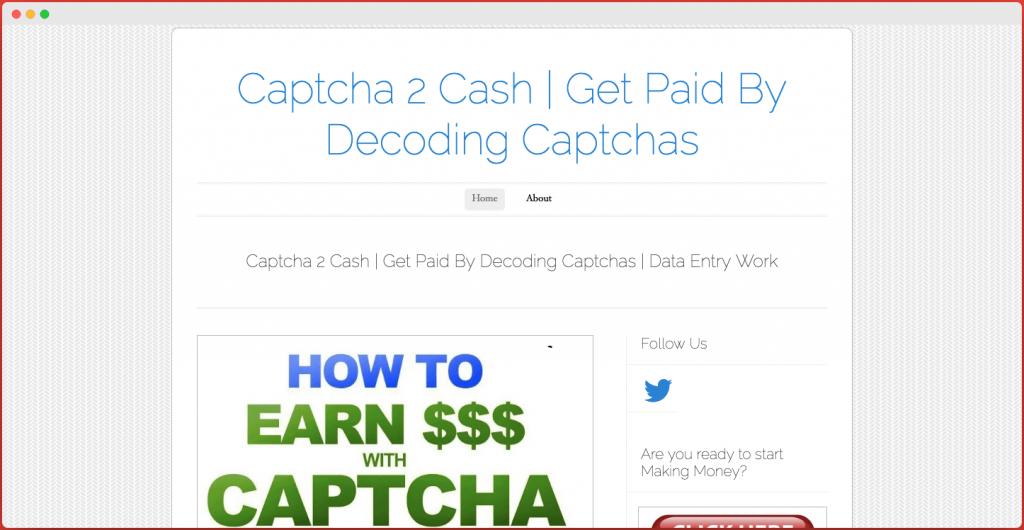 Captcha2cash - Captcha Entry Jobs in India