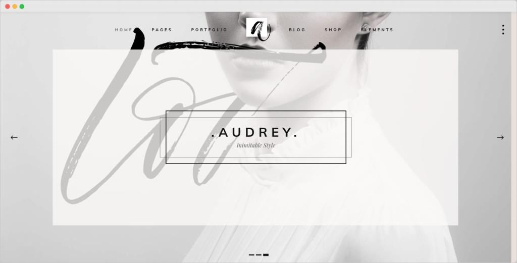 Audrey – Charming Fashion WordPress Theme