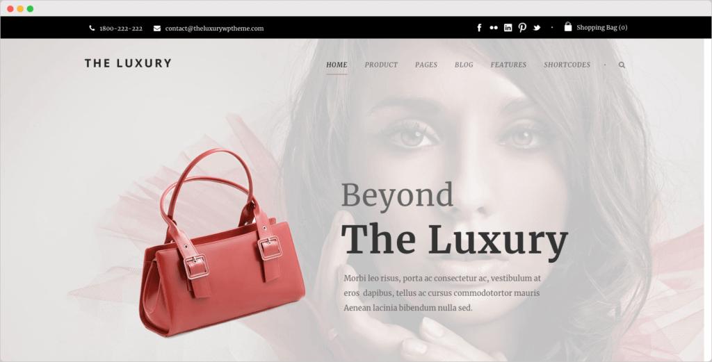 The Luxury - Dark / Light Responsive Fashion WordPress Theme