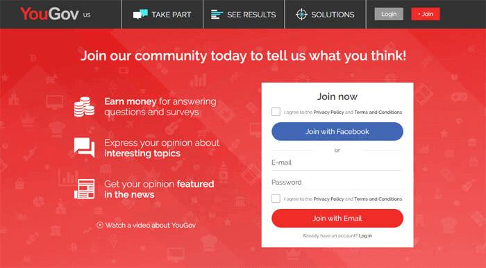 YouGov - Best Survey Website