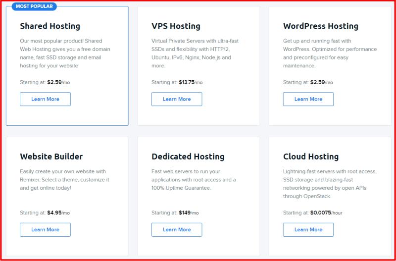 DreamHost Web Hosting Plans
